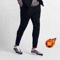 gemusterte fleecehose großhandel-Winter Designer Fleece Herren Hosen Mit Logo Muster Herbst Hosen Einfarbig Sporthose Luxus Dicke Hosen Freizeitkleidung M-5xl