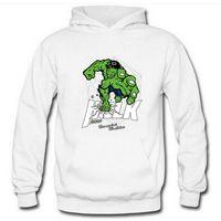 riesiges grünes trikot großhandel-Sommer neue Männer Hoodies Fleece Sweater Pullover Sweatshirt Herren Kapuzenpullover Green Riese Print Electronic Punk männlich Hoody Sweatshirts