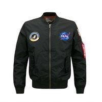 militärischer modemantel für männer großhandel-Septhydrogen Marke Fashion Herbst und Winter Männer dünne Jacke US NASA MA1 Flug Bomber Mantel Baseball Military Outwear Jacken