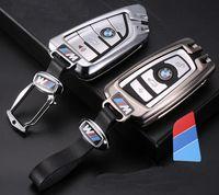 llaveros marcos de cuadros al por mayor-BMW Bolsa de llaves para autos Cadena de aleación de cuero Diseñador de llaves para 1-7 X1-X6 Series Bolsa de llaves para autos Regalos de personalidad Caliente