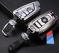 cadeau bmw achat en gros de-BMW voiture clé sac en alliage de cuir chaîne sac de clé de concepteur pour 1-7 X1-X6 série clé de voiture sac cadeaux de personnalité chaud