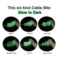 Wholesale glow charge cable for sale - Group buy Cute Animal Glow Cable Protector Cable Bite Luminous Charging Cord Protective for iPhone Lightning Cover Upgrade MMA1470