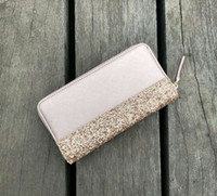 Wholesale shining glitter for sale - Group buy brand designer glitter wallets shining new zipper cluth bag colors shining for women
