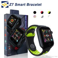 ingrosso telefoni ip68-Z7 Smart Watch fitness tracker Braccialetto frequenza cardiaca smartwatch Monitor IP68 Impermeabile Step per apple watch PK DZ09 ios smart phone android