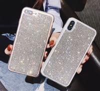 Wholesale i phones case online – custom luxury diamond rhinestone cell phone case for i phone case iphone plus plus iphone X XS XR XS MAX designer phone case