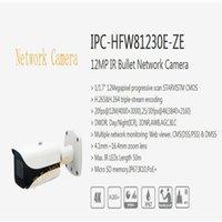 dahua hd bullet toptan satış-Ücretsiz Kargo DAHUA Güvenlik IP Kamera 12MP IR Bullet Ağ Kamera IP67 Logo Ile POE Ile IP67 IK10