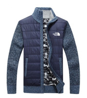 ingrosso giacche a maglia a maglia-New north the Men's Jacket knitting sweater Casual Woolen maglioni hick knit keep warm Cappotti outdoor capispalla inverni Cardigan uomo abbigliamento