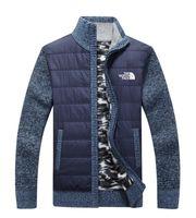 erkekler için örme ceketler toptan satış-Yeni kuzey erkek Ceket örgü kazak Rahat Yün kazak cehennem örgü sıcak tutmak Mont dış giyim kış Hırka adam giyim