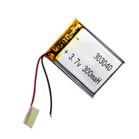 Wholesale 3.7v rechargeable li polymer battery for sale - Group buy 303040 Li polymer Rechargeable Battery V mAh for bluetooth mp3 reader mp4 gps Bluetooth earphone recharged Batteria