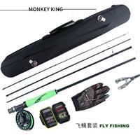 gancho de rueda al por mayor-Juego de pesca con mosca ilure Juego de pesca con mosca portátil gancho de rueda de diferente tamaño