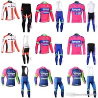 Wholesale kuota cycling jersey 3xl 4xl for sale - Group buy 2018 pro team LAMPRE KUOTA cycling jersey ciclismo Merida long sleeve cycling clothing ropa ciclismo bike clothing bib pants sets C0916