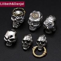 Wholesale charms prata for sale - Group buy Women Men Pendant Real Sterling silver Punk Rock Skull Charm Necklace Pendant Jewelry berloques prata original P30