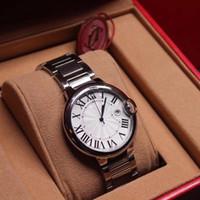 reloj de pulsera para hombre suizo al por mayor-2019 Relojes de pulsera de lujo para hombre 42 mm para mujer 36 mm 33 mm 28 mm Movimiento de cuarzo suizo de acero inoxidable BALLON Reloj de diseño de alta calidad con caja