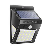vídeo ao ar livre conduzido venda por atacado-20or30 LED Solar energia de luz sensores movimento Solar Garden Lights Saving parede Lâmpadas Quintal Outdoor Waterproof Energia