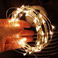 etiqueta de la pared de la boda china al por mayor-1M alambre de cobre secuencia del LED LED de iluminación de vacaciones Hada Garland para la boda del árbol de navidad decoración del partido