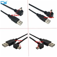 Wholesale usb cable b right angle resale online - USB Male to Mini USB B Type pin Degree Up Down Left Right Angled Male Data Cable m m m m