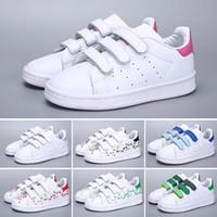 crianças sapatos de couro para menina venda por atacado-Adidas Superstar 2018 nova Marca Shell Cabeça menino meninas Sapatilhas Superstar crianças Crianças Sapatos new stan shoes moda tênis smith esporte de couro tênis