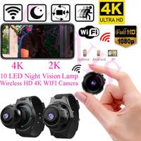 versteckte nachtsicht ip-kamera großhandel-Mini UHD Kamera versteckter Kamerarecorder 4K 1080P drahtloses WIFI IP Nockennachtsicht DVR