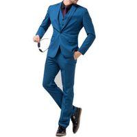 ingrosso ora si veste-Tuta da uomo vestito di tre pezzi vestito sottile moda maschile (cappotto + pantaloni + gilet) è ora popolare popolare vestito da uomo d'affari supporto personalizzato
