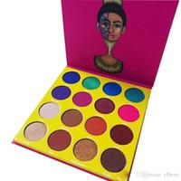 16 lidschatten großhandel-Cleopatra 16 Color Lidschatten Makeup Plate Series Produkte Wasserdicht Nicht entfärbt Dauerhaft Schöne Lidschatten-Palette Maquillaje