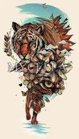 diyanet sanatları toptan satış-Elmas Nakış hayvanlar Diy 5D Elmas Resim Sergisi Çapraz Dikiş Resim Tam Taklidi çiçekler kaplan gözü Sanat Mozaik Dekorasyon