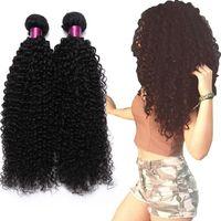 26 black human hair extensions 도매-브라질 변태 곱슬 스트레이트 바디 웨이브 느슨한 웨이브 딥 웨이브 버진 헤어 위트 자연 블랙 브라질 곱슬 버진 인간의 머리카락 확장