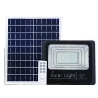 ingrosso proiettore del sensore di luce-Nuova versione Solar LED Flood Light con Power Display 100W Light Sensor Floodlight Solar Garden Lamp Illuminazione esterna con telecomando