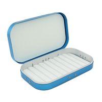 хранение рыболовных снастей оптовых-Aluminum Alloy  Fishing Lure Hook Storage Case Portable Fish Lure Bait Tackle Box Container Fishing Accessories