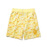 sarı kumsal kısa toptan satış-Sıcak Satış Yaz Yeni Lover Mavi Sarı Kırmızı Camo Baskılı Rahat Plaj Şort Erkek Kadın Terry Hip Hop Gevşek Şort