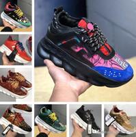 enredaderas zapatos hombres al por mayor-VERSACE CHAIN REACTION 2019 Hombres Moda Casual Zapato Moda Altura Cadenas creciente Zapatillas Confort Zapato Mujer Plataforma gruesa Creepers Mujer Casual Pisos Tenis