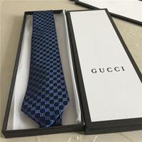 gravata de seda venda por atacado-Laços dos homens 100% gravata de seda gravata dos homens partido gravatas Gravata casual presente caixa de embalagem de negócios