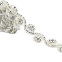 Wholesale decorations for parties weddings prices for sale - Group buy 1 Yard Factory Price Rhinestone Applique Trim For Wedding Party Decoration Home And Garden Hot Fix Rhinestone