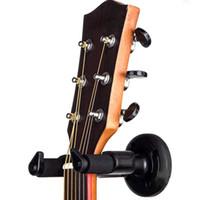 askı ebatları toptan satış-2018 Faydalı Elektrik Gitar Duvar Askı Tutucu Stand Çeşitli Boyut Gitar Siyah Bas Aksesuarla Için Raf Kanca Dağı