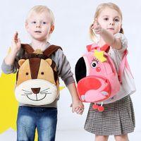 linda mochila de guarderia al por mayor-1Shujin Cartoon Children's School Bag Regalos para Kindergarten Boys Girls Baby Cartoon Cute Mini Plush Backpack Plush Toy Gifts