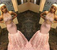 cor de pêssego vestido de baile venda por atacado-Sexy Cor De Pêssego Longo Prom Dresses 2019 South African Black Girls Apliques Feriados Graduação Desgaste Vestidos de Festa À Noite