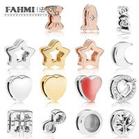 Wholesale heart bow glasses for sale - Group buy FAHMI Sterling Silver Shiny Glamorous Star Clip Rose Space Ship Clip Moon Bow Gift Heart SPARKLING INFINITY Clip Pendant