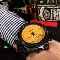ingrosso orologi di qualità arancione-Orologio da polso di alta qualità al quarzo da uomo Orologio da polso cronografo da 45 mm a quadrante arancione in nylon Monor Hemmo