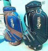hochwertige golfwagen großhandel-Honma Golf Bag PU Leder Golf Cart Bag Herren Golf Clubs Bag Gute Qualität schwarz orange Farbe