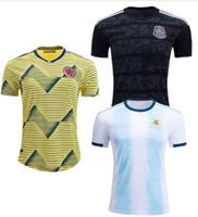 argentinien zuhause großhandel-Fußball-T-Shirt 2019 TopThai Qualitätsmexiko XXL Fußball Jerseys Argentinien-messi Haus 2XL Fußballtrikot Kolumbien-James Maillot Fuß