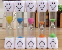 temporizadores de niños al por mayor-Niños Niños Cepillo de dientes Cronómetro Cara sonriente Sonrisa de 3 minutos Reloj de arena Diente Cepillado Reloj de arena Reloj de arena Decoración del hogar G413