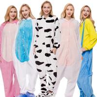 giraffen-pyjamas erwachsene großhandel-Erwachsene Winter Pyjamas Casual Tier Pyjama Sets Mit Kapuze weiche Homewear Flanell Nachtwäsche Weibliche Nette Giraffe Cartoon Pyjamas