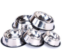Wholesale cat stainless steel feeder for sale - Group buy Stainless Steel Dog Powl Pet Bowl Food Water feeder for cats and small dogs Home Outdoor