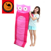 Wholesale car quilts for sale - Cartoon Sleeping Bag Rectangular Children Anti Kicking Quilt Outdoors Camping Family Spring And Autumn Candy Color dzf1