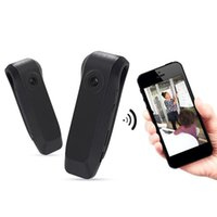 gravador de voz livre micro venda por atacado-Frete grátis Mini WIFI Camera Voltar Clipe projeto, Wireless Pen Camera Gravador de Voz Pen HD, Micro DVR Camcorder monitor