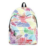 nueva bolsa de la llegada de corea al por mayor-Nueva llegada mochilas escolares para adolescentes mochila escolar de estilo coreano para niñas impresión de la raya mochila niños bolsa regalo de la muchacha