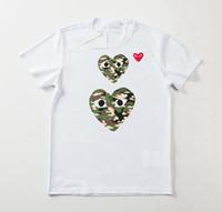 frauen, die hemden abnehmen großhandel-19SS neuen Stil vielfältigen herzförmigen Druck Womens Designer T-Shirts aus reiner Baumwolle rotes Herz Shirt Damen T-Shirt Mode schlank
