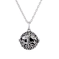 Wholesale ball cage charm resale online - New Tree of Life Cage Pendant Lava rock Aromatherapy Essential Oil Diffuser Necklace Hollow Out Ball Necklaces Women Fine Jewelry