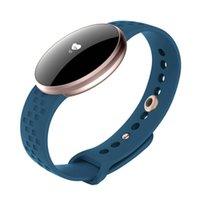 ingrosso orologi di grande fascia-Smart Wristband Fitness Bracciale Big Touch Screen OLED Messaggio impermeabile Heart Rate Time Smartband orologio sportivo pk MI band 3