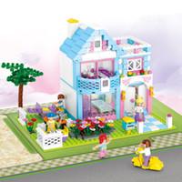 pinturas em miniatura venda por atacado-Mais novo Pequeno Quarto Caixa Casa Villa Jardim Modelo Bloco de Construção Tijolo DIY Casa de Boneca Em Miniatura Mini Casa De Bonecas Brinquedo para Crianças Menino menina