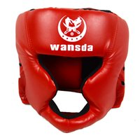 Wholesale martial arts protective gear resale online - Martial Art Protector Karate Fitness Equipment Taekwondo Head Guard Practical Competition Closed Type Boxing Helmet Faux Leather
